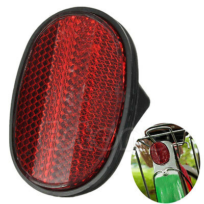 Red Cycle Safety Bicycle Classic Tail Rear Mudguard Oval Warnning Reflector Bike