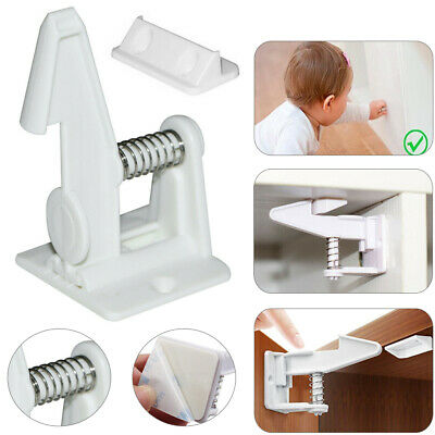 10pcs Invisible kids Baby Safety Locks Adhesive Cabinet Drawer Cupboard Latches