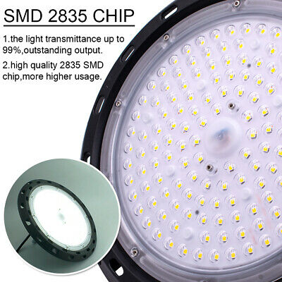 LED High Bay Light 300W 200W 150W Factory Warehouse Industrial Shop Lighting US