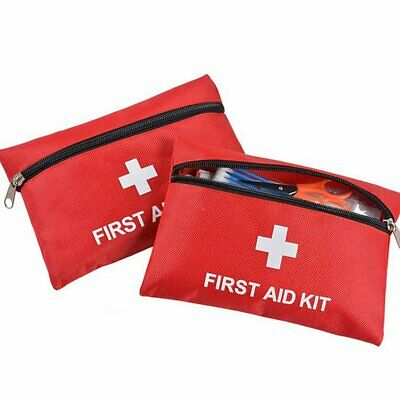 43Pcs First Aid Kit Medical Pouch Emergency 1st Aid Bag Work Travel Holiday Car