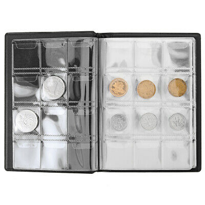 120 Pockets Coin Album Holders 10 Pages for Coins Collector Collection Book US