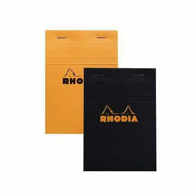 R Premium Notepad Rhodia Staplebound R182007 Blank 8.25 x 11.75 Orange