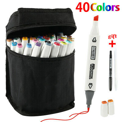 40 colores Copic Rotuladores Set Touch Twin Tips Sketch Dibujo Pintura Artista