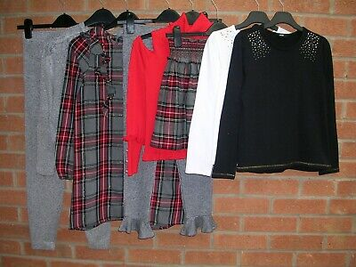 NEXT & RIVER ISLAND etc Girls Bundle Tops Joggers Skirt Dress Age 9-10 140cm