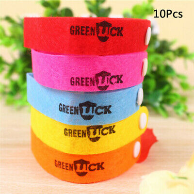 10x Bracelet Anti Mosquito Insect Bugs Repellent Repeller Wrist Band CC