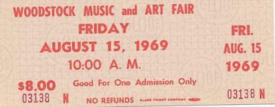 Woodstock- Ticket to Friday, August 15th