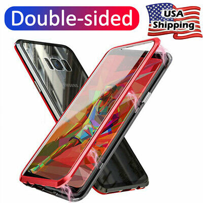 Magnetic Glass Case Cove Screen Protector Samsung Galaxy S10 S8 S9 Plus Note 8 9
