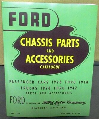 1928-1948 Green Bible Ford Master Parts Book Catalog Car and Truck