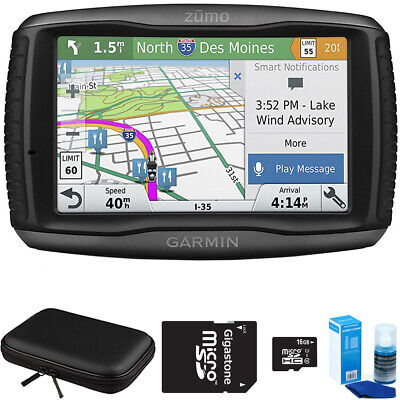 Garmin Zumo 595LM Motorcycle GPS Navigator with Accessory Bundle