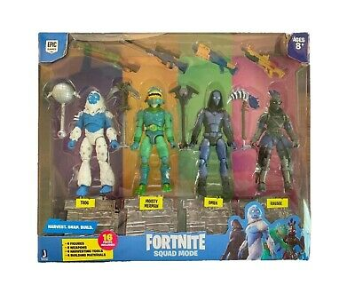 Jazwares 100% Official - Fortnite Series 2 Squad Mode 4 Pack Figures - NEW