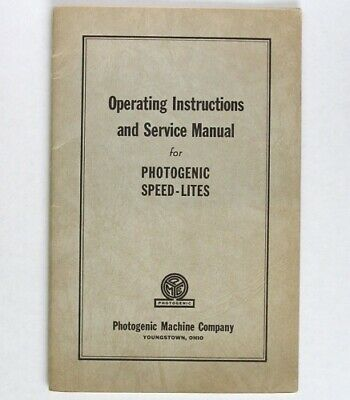 Photogenic Speed-Lites Instruction and Service Manual for early models