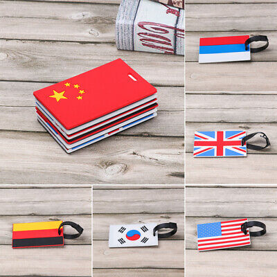 Silicone National Flag Luggage Tag Portable Label Travel Tags Baggage Boarding
