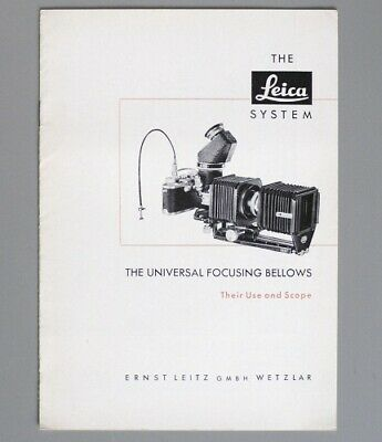 Instruction Manual for Leica Universal Focusing Bellows (1953)