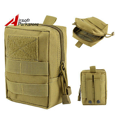 Tactical Hunting Molle Magazine Drop Pouch Waist Bag Utility EDC Tools Bag Tan