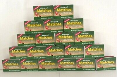 Coghlans Waterproof Matches 20 Boxes Of 40+ Over 800 Safety Matches Total #529
