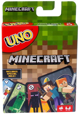 Best Mattel Uno Minecraft Card Game Fun Fantastic Family Kids Children Gift Toy