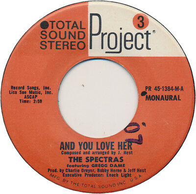The Spectras (Feat Gregg Dame) 45 And You Love Her / Happy Life Together