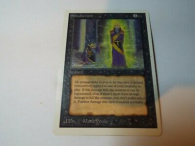MAGIC THE GATHERING UNLIMITED CARD SIMULACRUM ex-nm