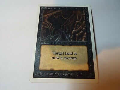 MAGIC THE GATHERING UNLIMITED CARD EVIL PRESENCE ex-nm
