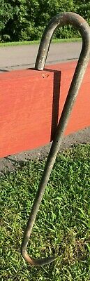 Vintage Style Steel Rod Butchers Game Hook Meat Beam 24 Inches