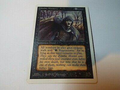MAGIC THE GATHERING UNLIMITED CARD ZOMBIE MASTER ex-nm