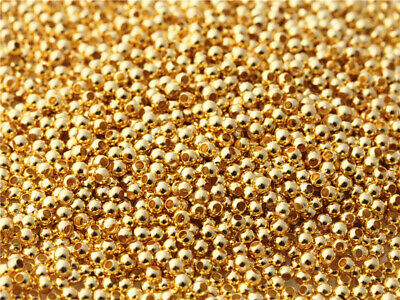 500 pcs 3mm Gold plated Beads Charms Spacer Bracelet Jewelry Making DIY Findings