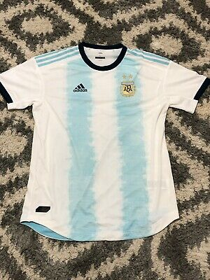 $130 Adidas 2019 Argentina Home Authentic Soccer Jersey Climachill  DP0225 SZ XL