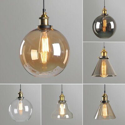 Loft Glass Ceiling Pendant  Hanging Light Lamp Shade Vintage Industrial Style