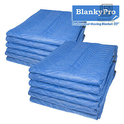 "6/12Pcs 80"" x 72"" Heavy Duty Moving Blankets 35LB/dz Packing Furniture Quilt Pad"