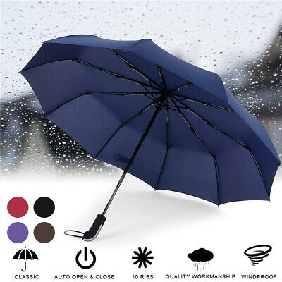 Compact Umbrella Automatic Folding Windproof Strong Wind UV Resistance Portable