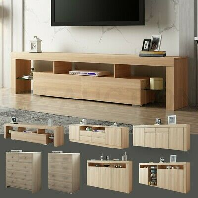 New Oak Buffet Sideboard TV Stand Cabinet Coffee Table Storage Wooden Furniture