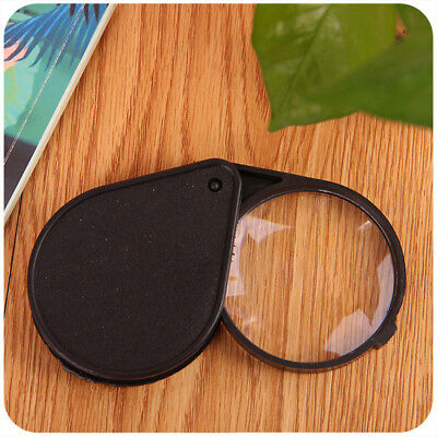 Folding 10X Mini Pocket Jewelry Magnifier Magnifying Eye Glass Loupe Lens Clear