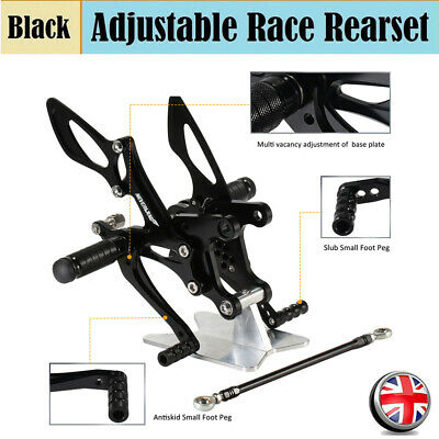 For Kawasaki ZX6R ZX 6R 2005-2008 CNC Billet Rearset Foot Pegs Anodized Black UK