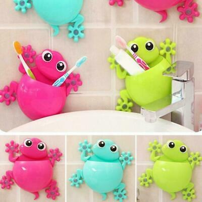 Cute Gecko Frog Wall Tooth Brush Holder Bathroom Suction Cup SALE ToothBrus H4Q1