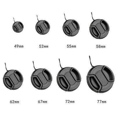 New Replacement DSLR Camera Front Lens Cap Center Snap on Lens Caps 49mm-77mm