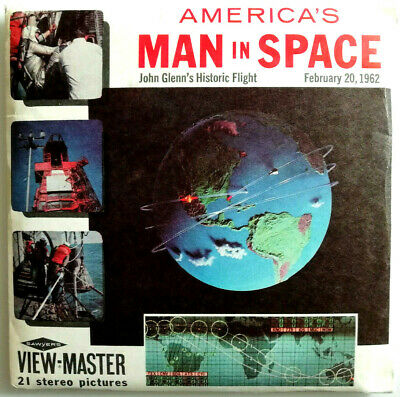 3x VIEW MASTER REEL / AMERICA`S MAN in SPACE / + BOOKLET / NASA / CAPE CANAVERAL