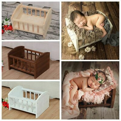 Retro Wooden Newborn Baby Photography Photo Shoot Cot Background Posing Props
