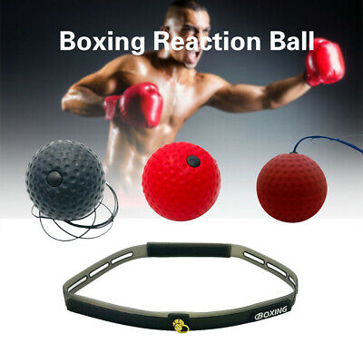 NEW Boxing Head Speed Tennis Ball Punch Reflex Fitness Focus Boxing MMA Training