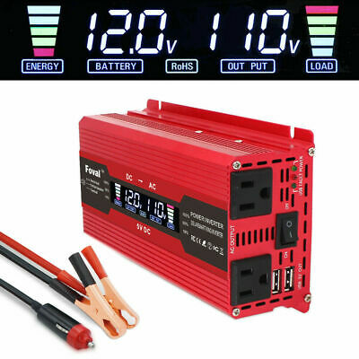 4000W Car Solar Power Inverter DC 12V To AC 110V Modified Sine Wave Converter