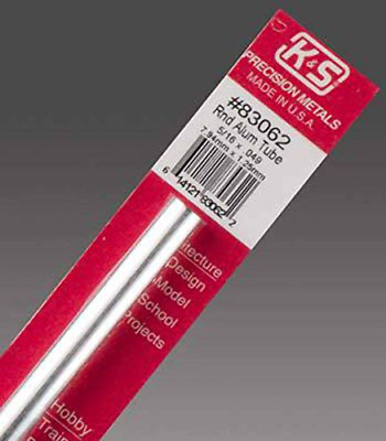 Precision Metals 83062 Round Aluminum Tube, 5/16 OD x 0.049 Wall Thickness