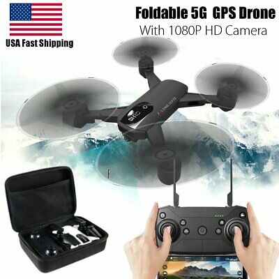 US 5G WIFI GPS Drone + Bag with 1080P HD Camera  RC Quadcopter FPV Smart Follow