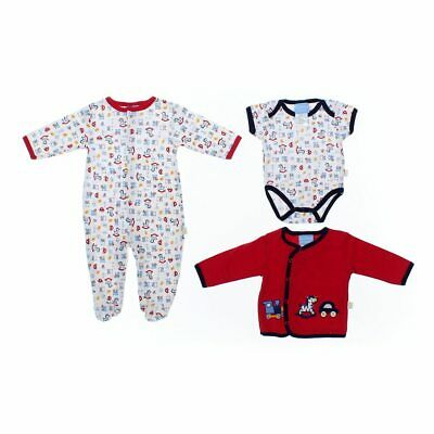 Duck Duck Goose Baby Boys Bunting, size NB,  red, yellow,  cotton, polyester