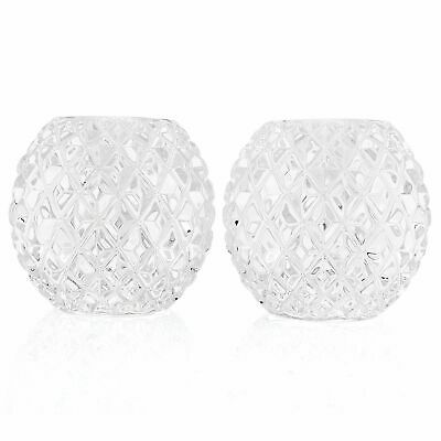 Waterford Crystal Set of 2 3 Round Candle Holders