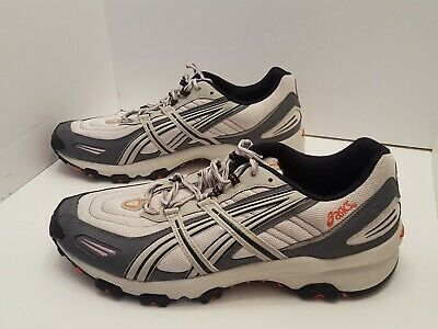 ASICS GEL AHAR Shoes Grey Black Orange Size 14 Running Tn441