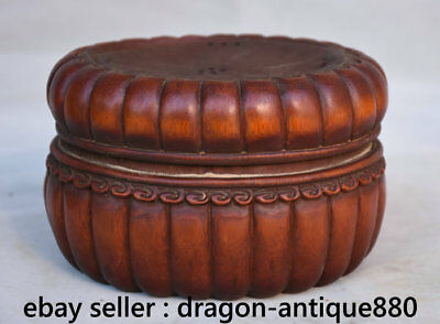 "6"" Collect Old Chinese Bamboo Root Hand Carved Dynasty Pot Incense Burner Censer"