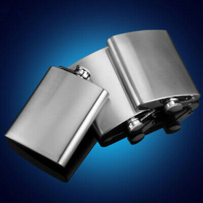 8oz 10oz Stainless Steel Hip Flask, Drinking Flask - Quality All Metal Cap