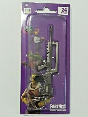 "Epic Games Fortnite Licensed Metal Keychain ""Assault Rifle (Burst - Rare)"" Zuru"