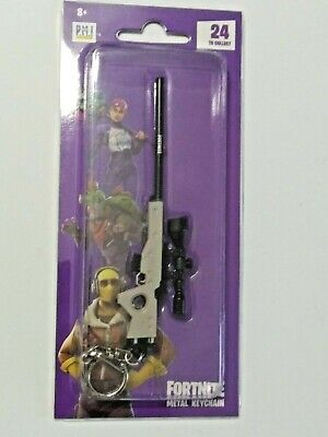 "Epic Games Fortnite Licensed Metal Keychain ""Bolt-Action Sniper Rifle"" Zuru"