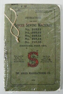 Vintage 1930 Singer Sewing Machines Instructions Booklet