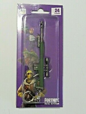 "Epic Games Fortnite Licensed Metal Keychain ""Heavy Sniper Rifle"" Zuru"